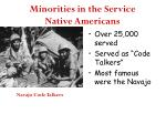 minorities in the service native americans