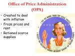 office of price administration opa