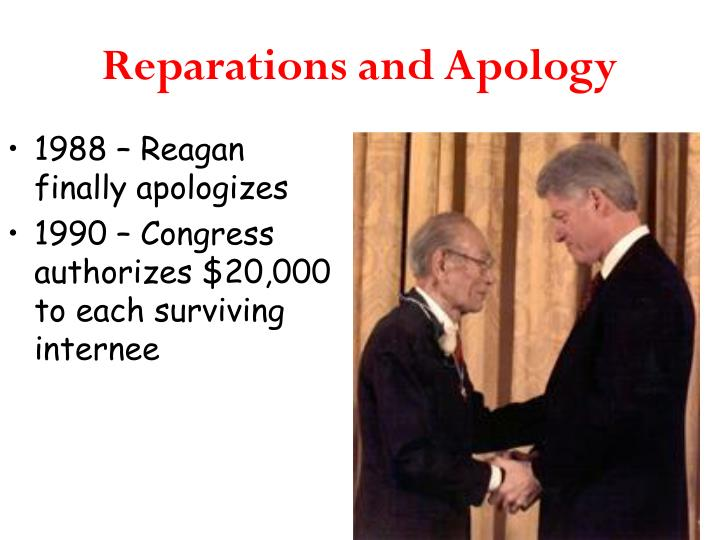 Reparations and Apology