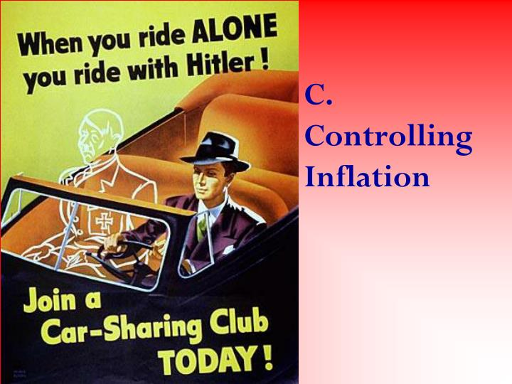 C. Controlling Inflation