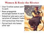 women rosie the riveter