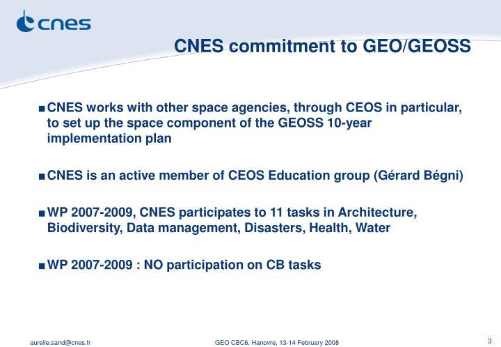 CNES commitment to GEO/GEOSS