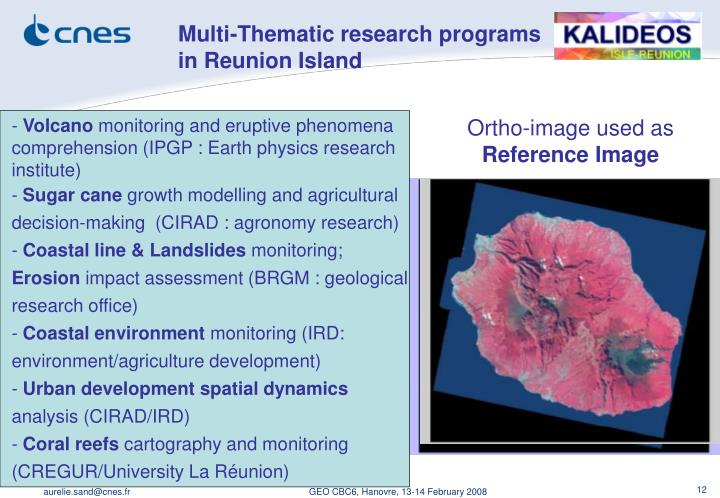 Multi-Thematic research programs