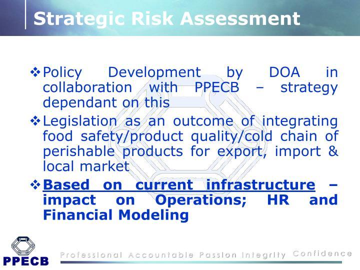 Strategic Risk Assessment