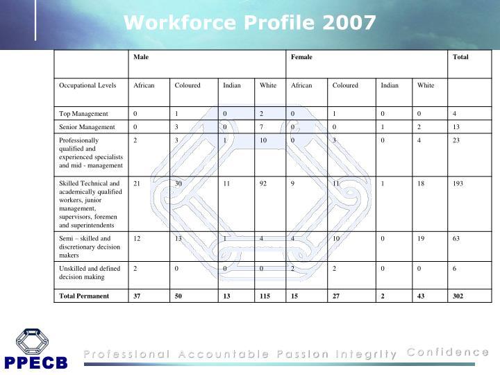 Workforce Profile 2007
