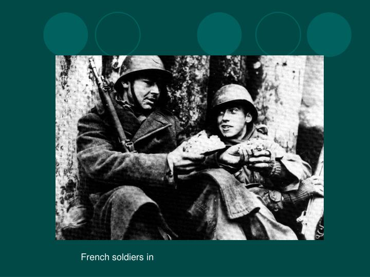 French soldiers in