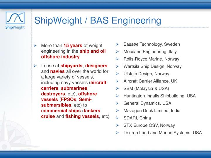 ShipWeight / BAS Engineering