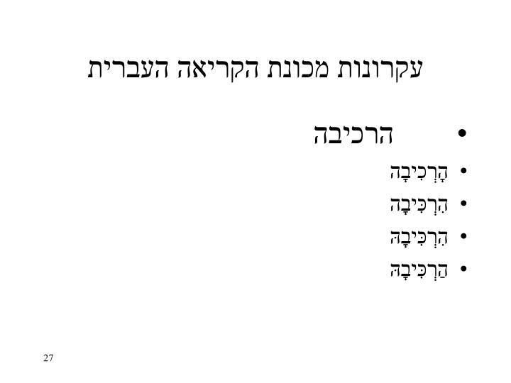 עקרונות מכונת הקריאה העברית