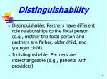 distinguishability