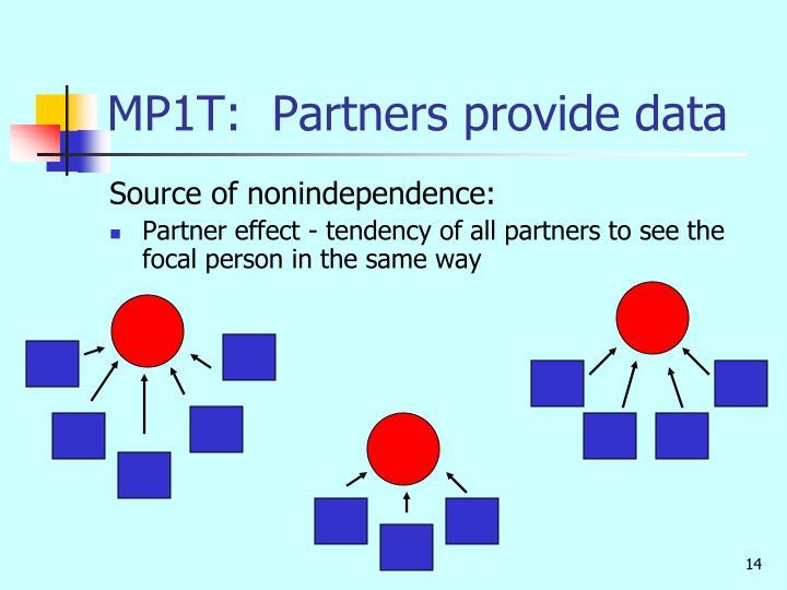 MP1T:  Partners provide data