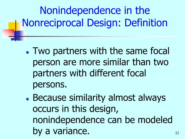 Nonindependence in the