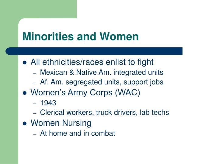 Minorities and Women