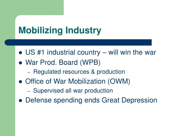 Mobilizing Industry