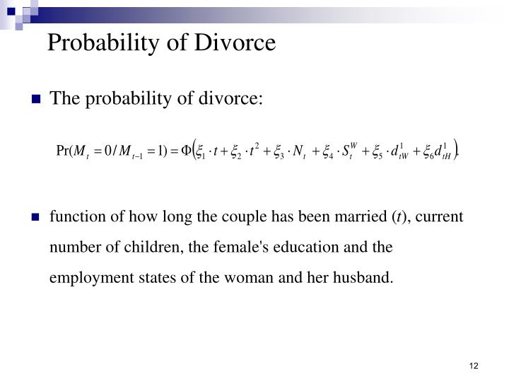 Probability of Divorce