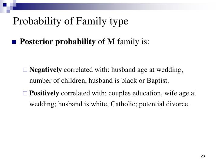 Probability of Family type