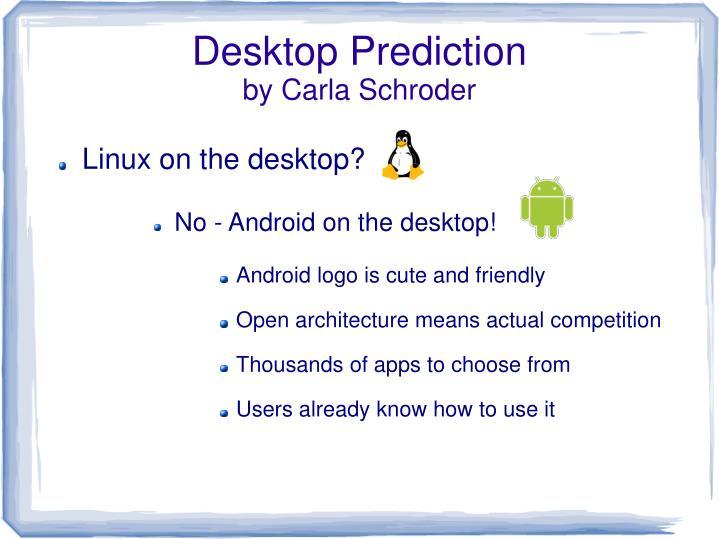 Desktop Prediction