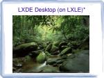 lxde desktop on lxle