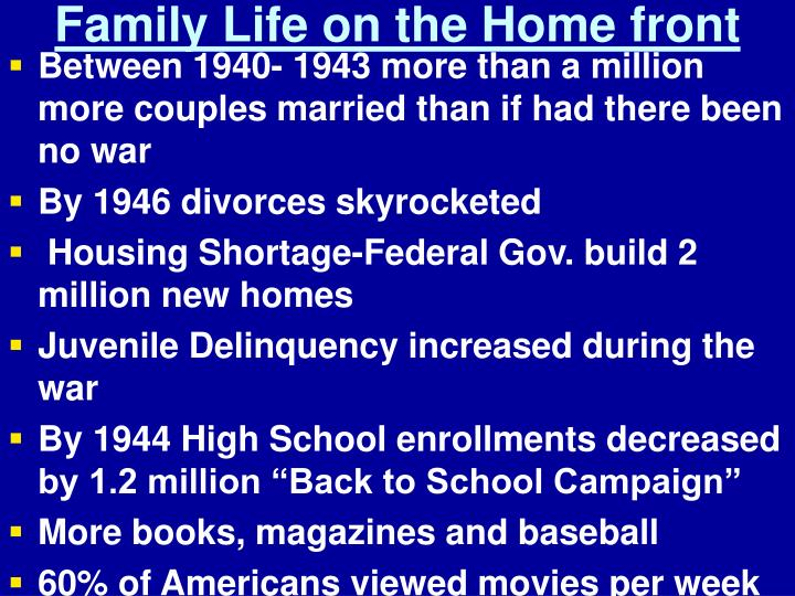 Family Life on the Home front