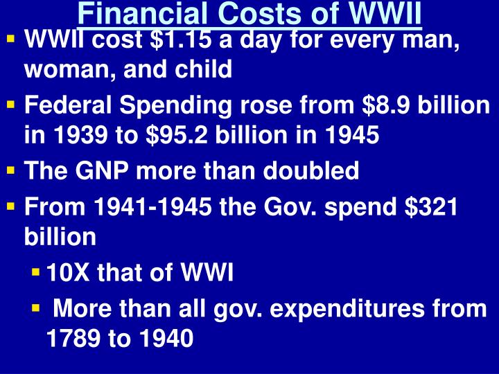 Financial Costs of WWII