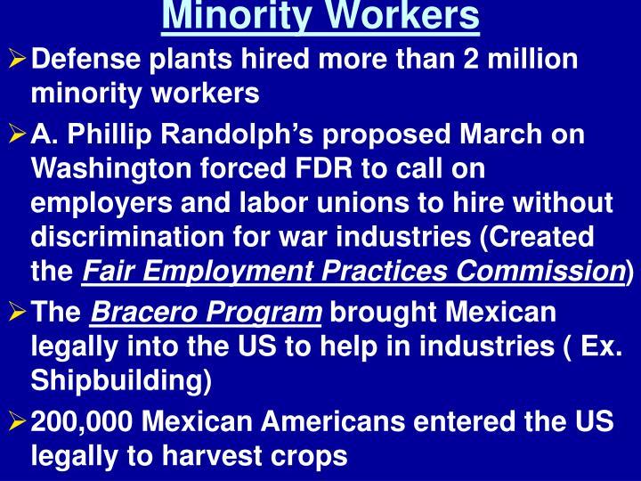Minority Workers