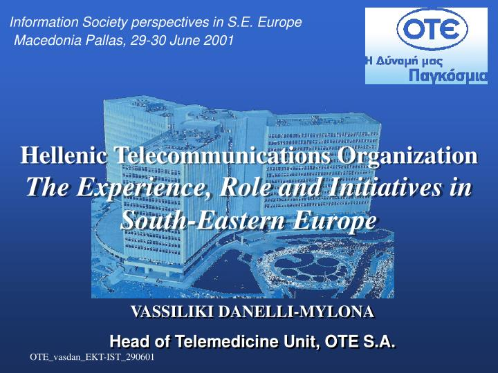 Information Society perspectives in S.E. Europe