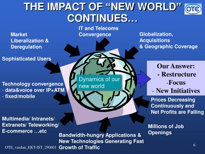 "THE IMPACT OF ""NEW WORLD"" CONTINUES…"