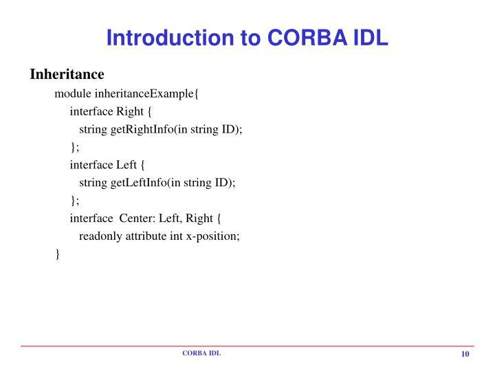Introduction to CORBA IDL
