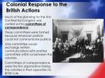 colonial response to the british actions2