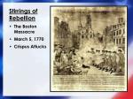 stirrings of rebellion