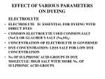 effect of various parameters on dyeing1