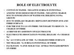 role of electrolyte