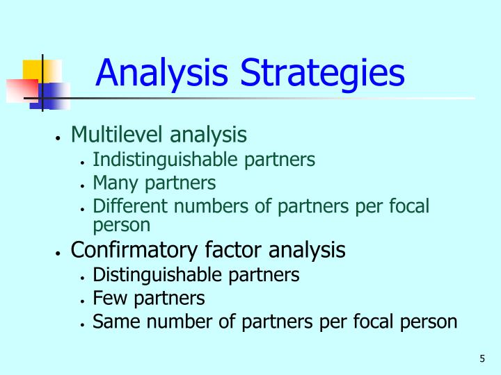 Analysis Strategies