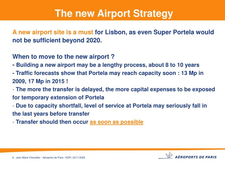 The new Airport Strategy