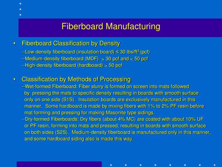 Fiberboard Manufacturing