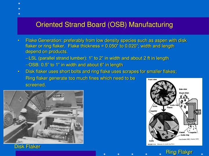 Oriented Strand Board (OSB) Manufacturing