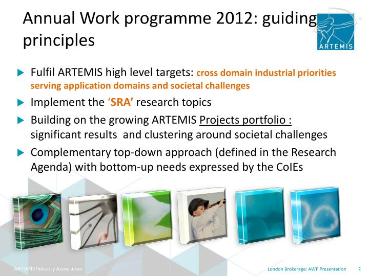 Annual Work programme 2012: guiding principles