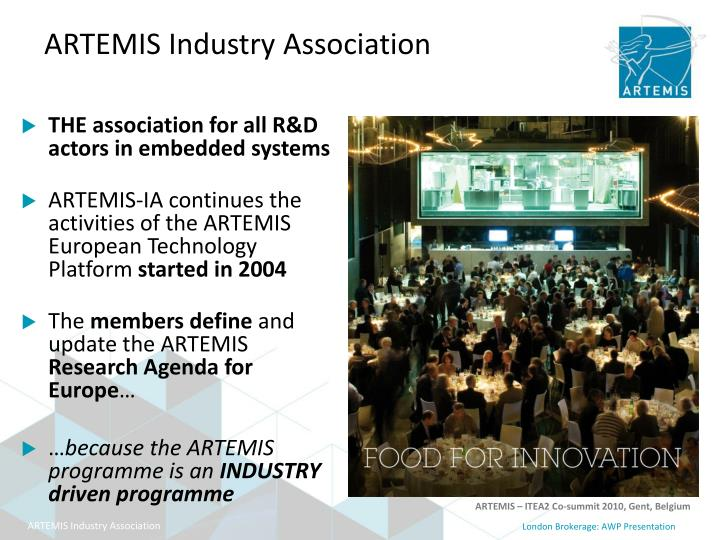 THE association for all R&D actors in embedded systems