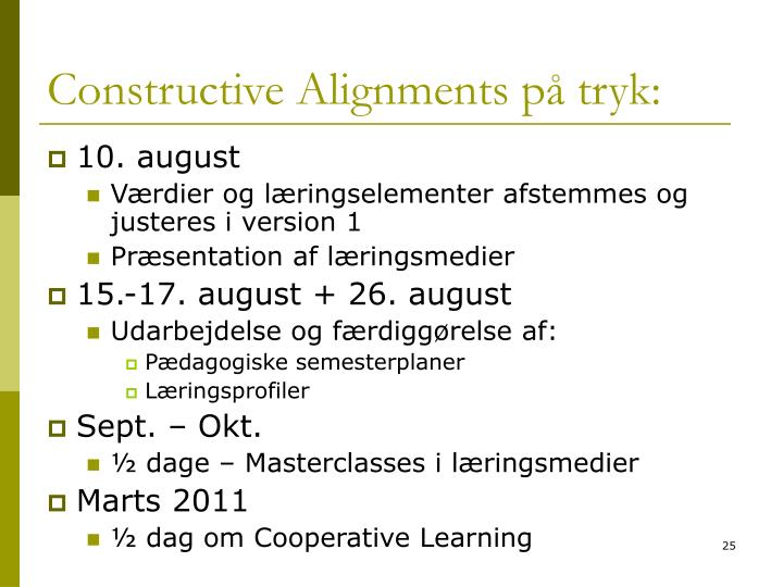 Constructive Alignments på tryk: