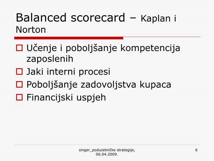 Balanced scorecard –