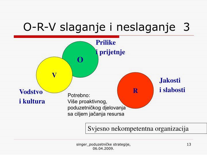 O-R-V slaganje i neslaganje  3