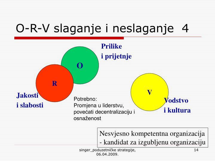 O-R-V slaganje i neslaganje  4