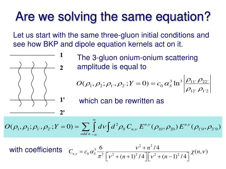Are we solving the same equation?