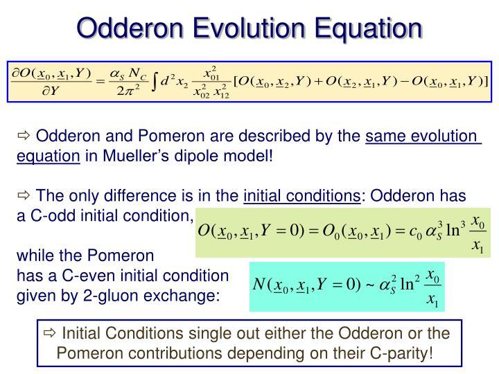 Odderon Evolution Equation