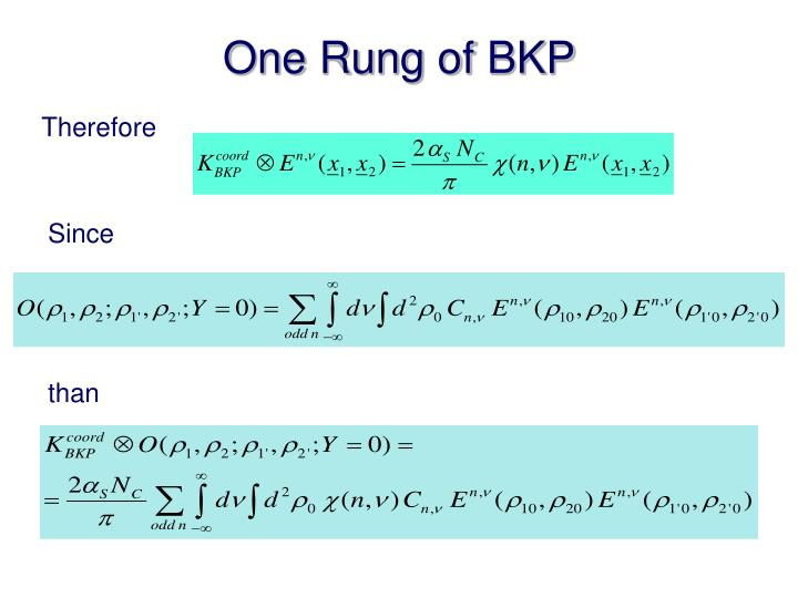One Rung of BKP
