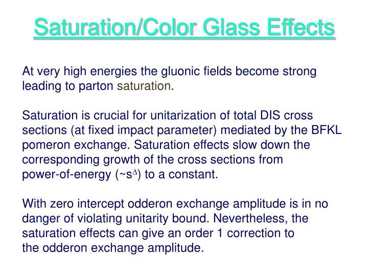 Saturation/Color