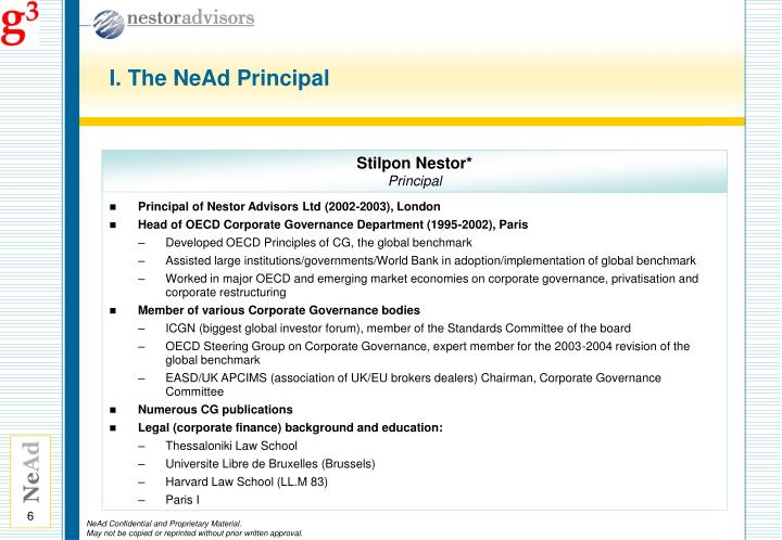 I. The NeAd Principal