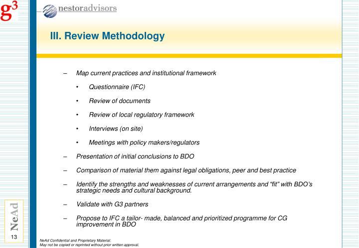 III. Review Methodology