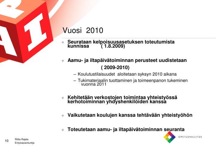 Vuosi  2010