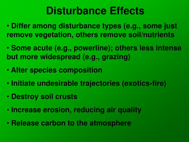 Disturbance Effects