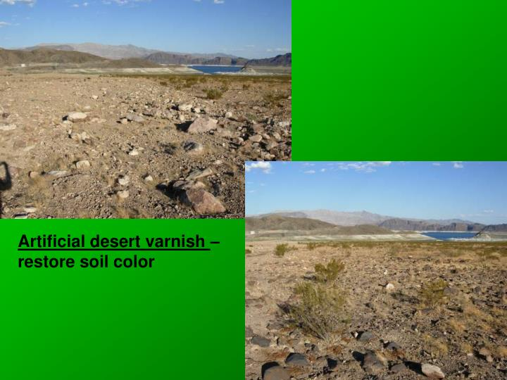 Artificial desert varnish
